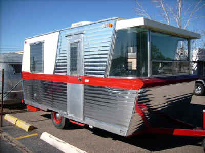 unusual tiny rvs. I want to see more Cramps themed campers photo taken from Hicksville  Trailer Palace website The Comet Camper