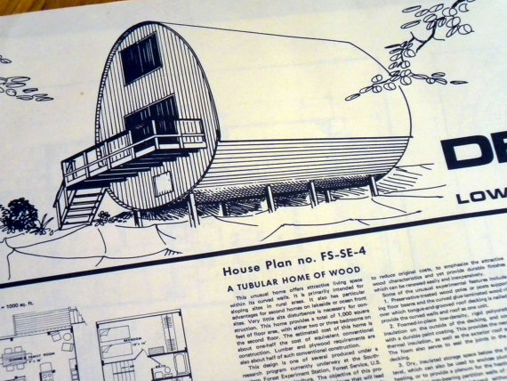 Found tiny retro tube house the comet camper for Barrel cabin plans
