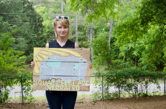 At the tiny house workshop in Wilmington - Steve Harrell had this awesome sign, I want to make one now too!